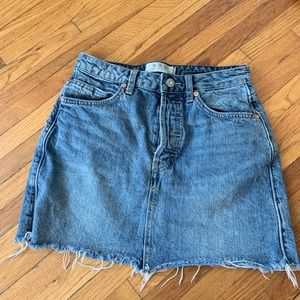 FP we the free jean skirt